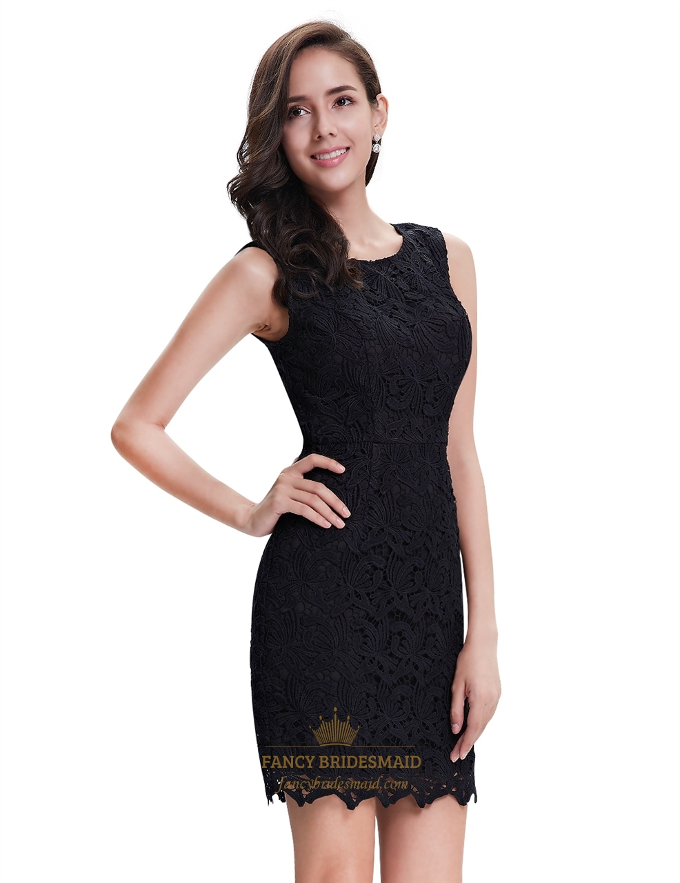 elegant black lace dresses - photo #15