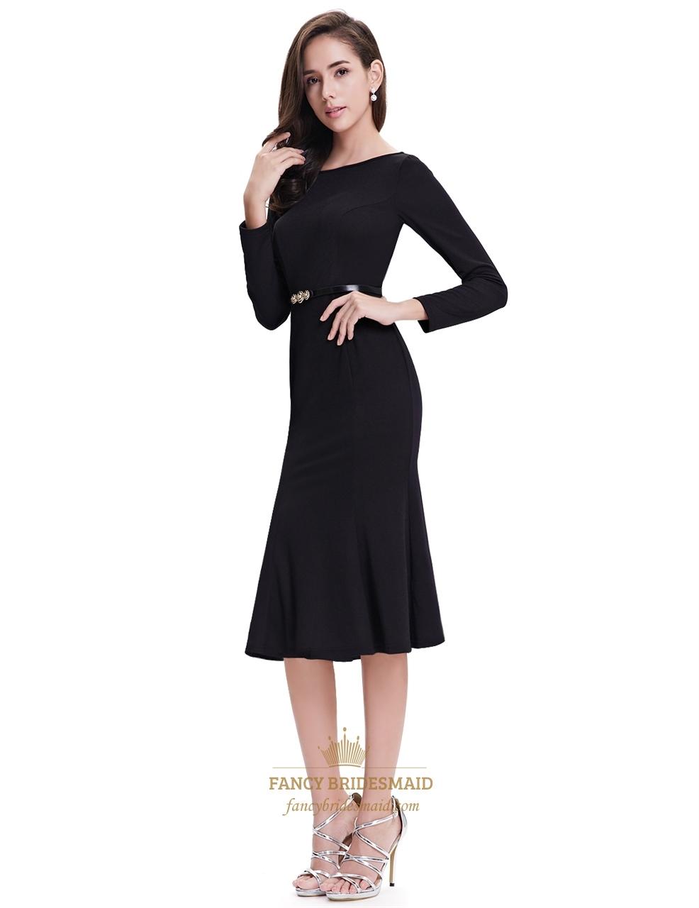 Black Tea Length Dresses