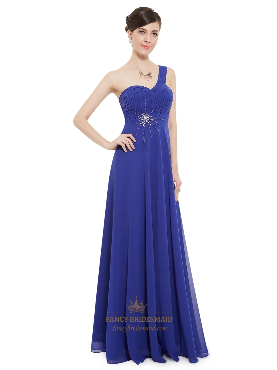 2019 year lifestyle- Blue royal bridesmaid dresses chiffon