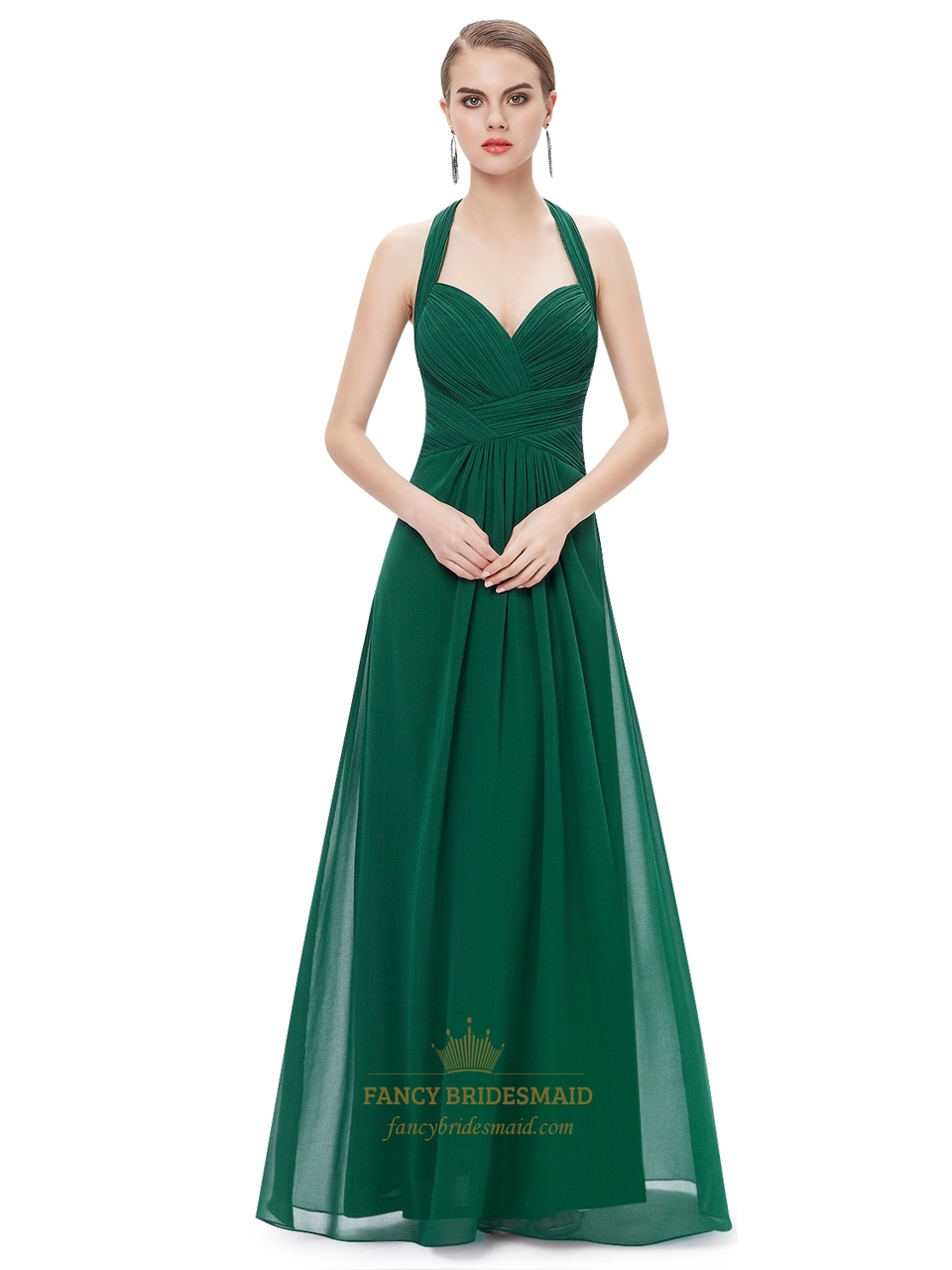 Emerald green chiffon halter neck bridesmaid dresses with ruching emerald green chiffon halter neck bridesmaid dresses with ruching ombrellifo Choice Image