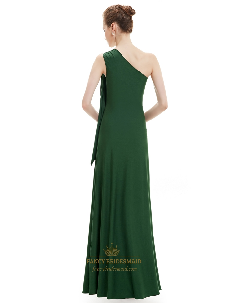 Emerald green sheath one shoulder bridesmaid dresses with ruffle emerald green sheath one shoulder bridesmaid dresses with ruffle detail ombrellifo Gallery