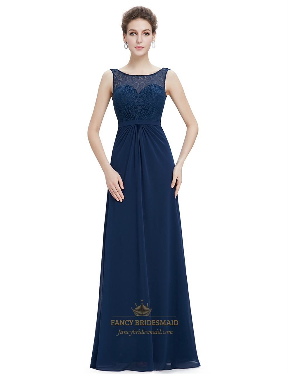 2019 year looks- Blue navy prom dresses long