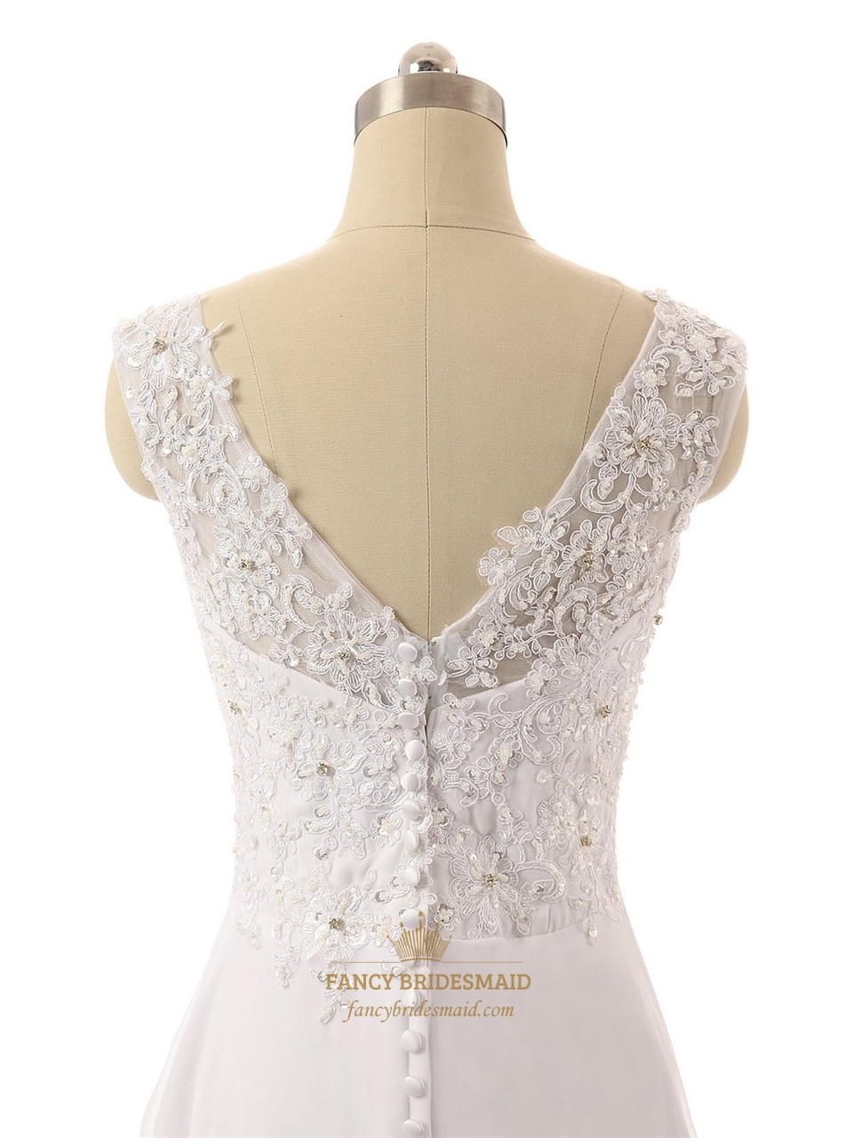 Long strapless v neck lace back sheer straps wedding dress for V neck strapless wedding dress