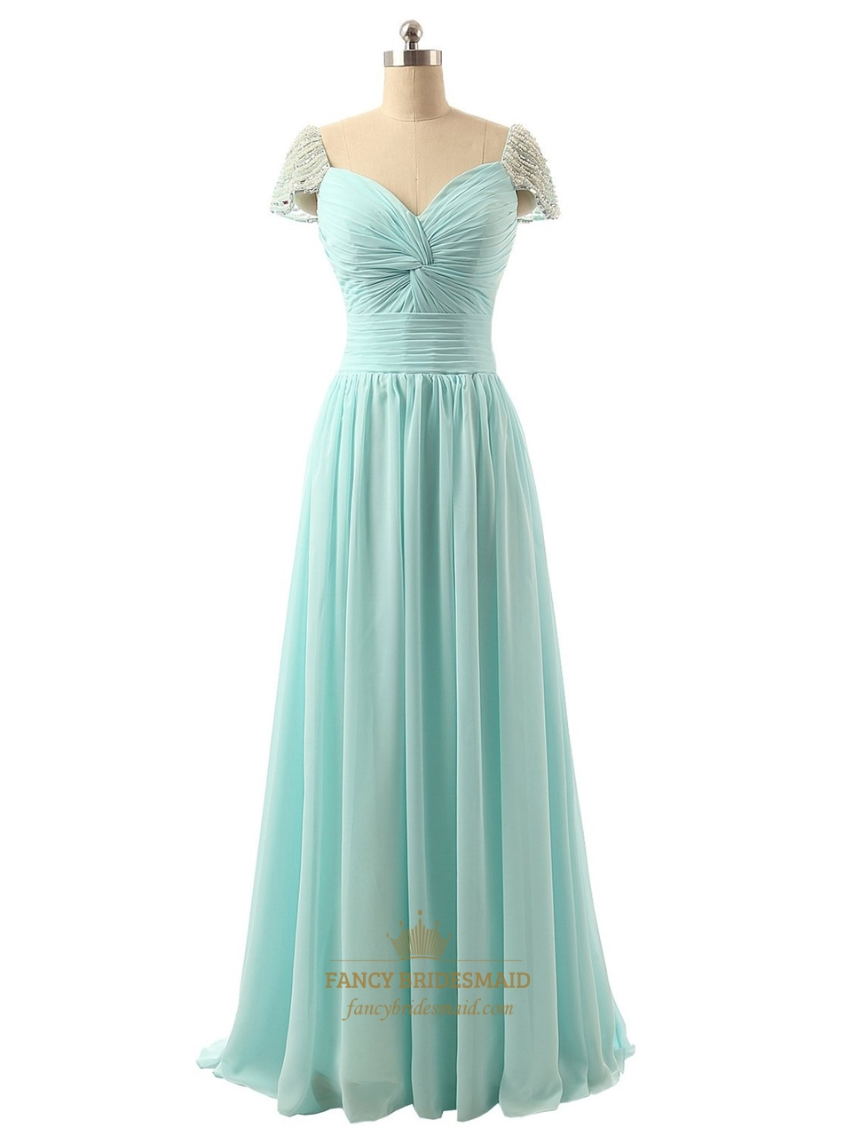 Light Aqua Chiffon Bridesmaid Dresses