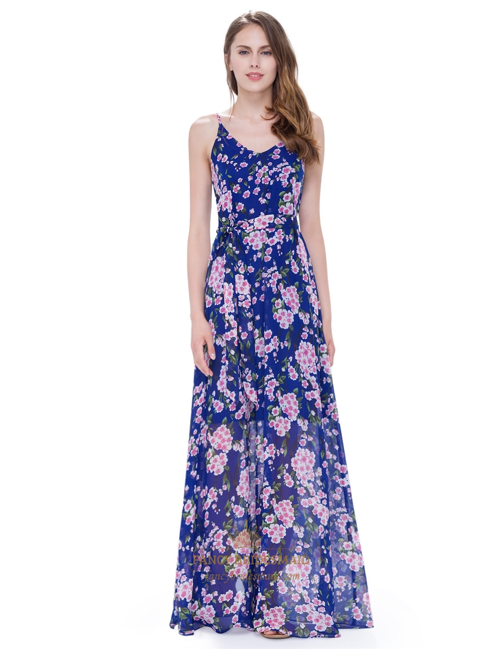 4c27df5b507c Women S Floral Spaghetti Strap Floor Length Casual Summer Dresses SKU -AP113