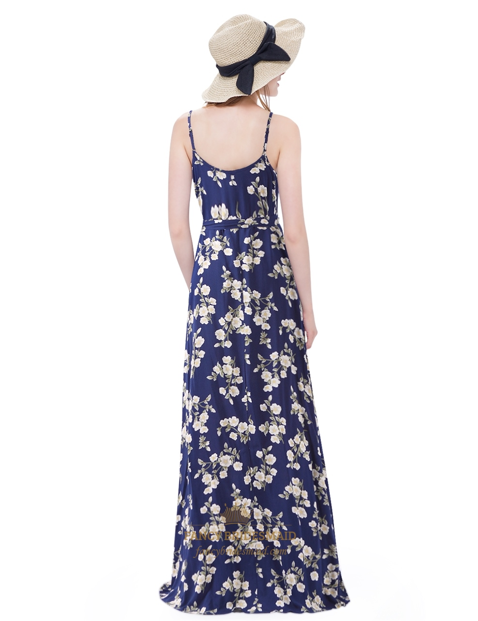 ecd4989083 Women s Floral Print Full Length Maxi Dress With Spaghetti Straps ...