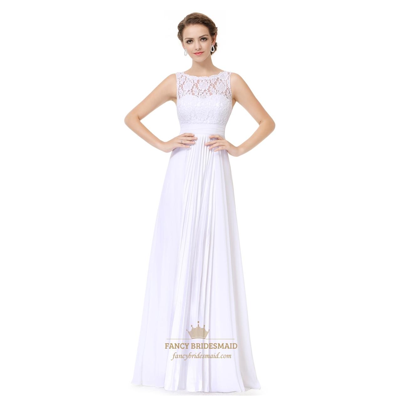 Burgundy chiffon sheer illusion neckline lace bodice dress for Wedding dresses with sheer illusion neckline