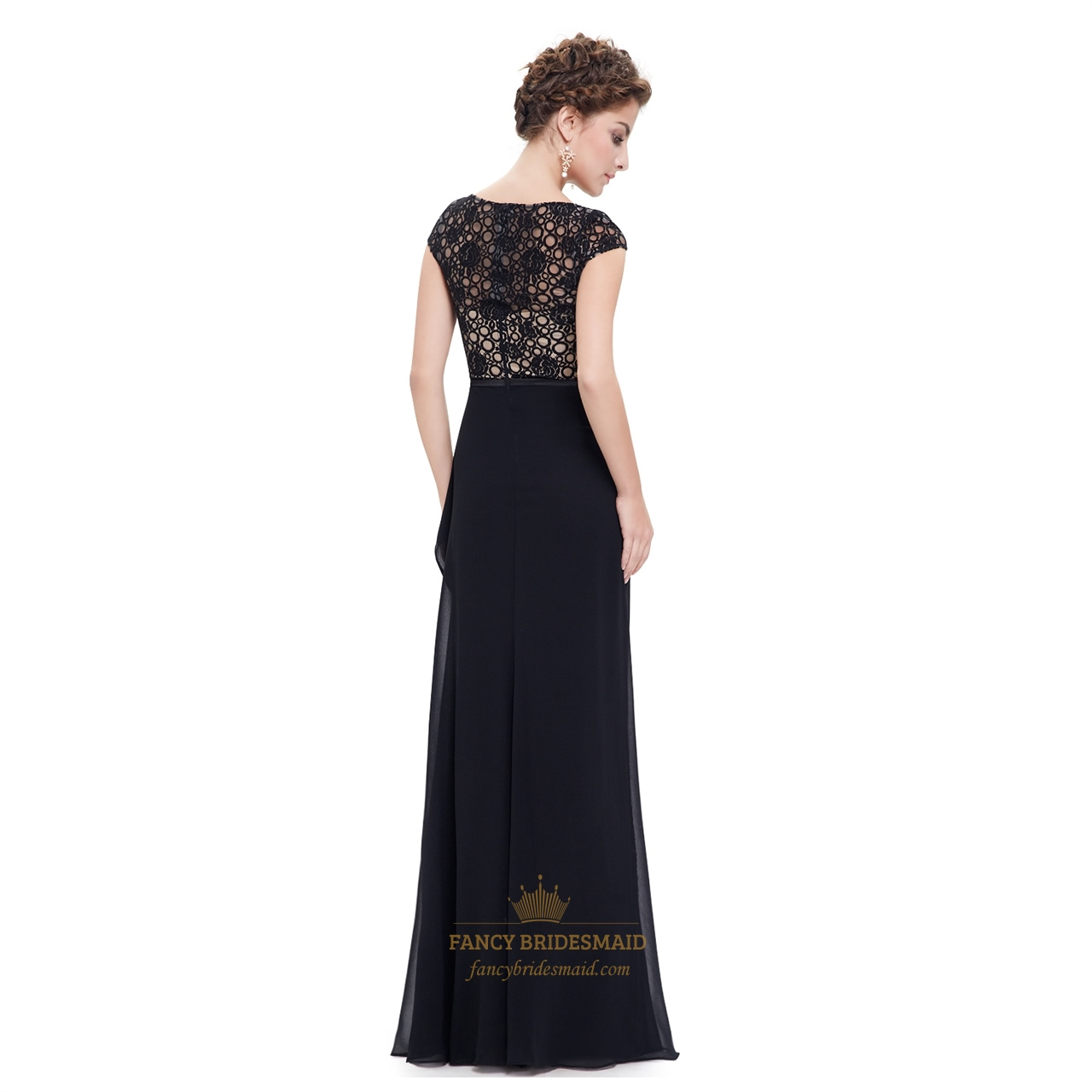 Watch - Lace black bridesmaid dresses with sleeves video
