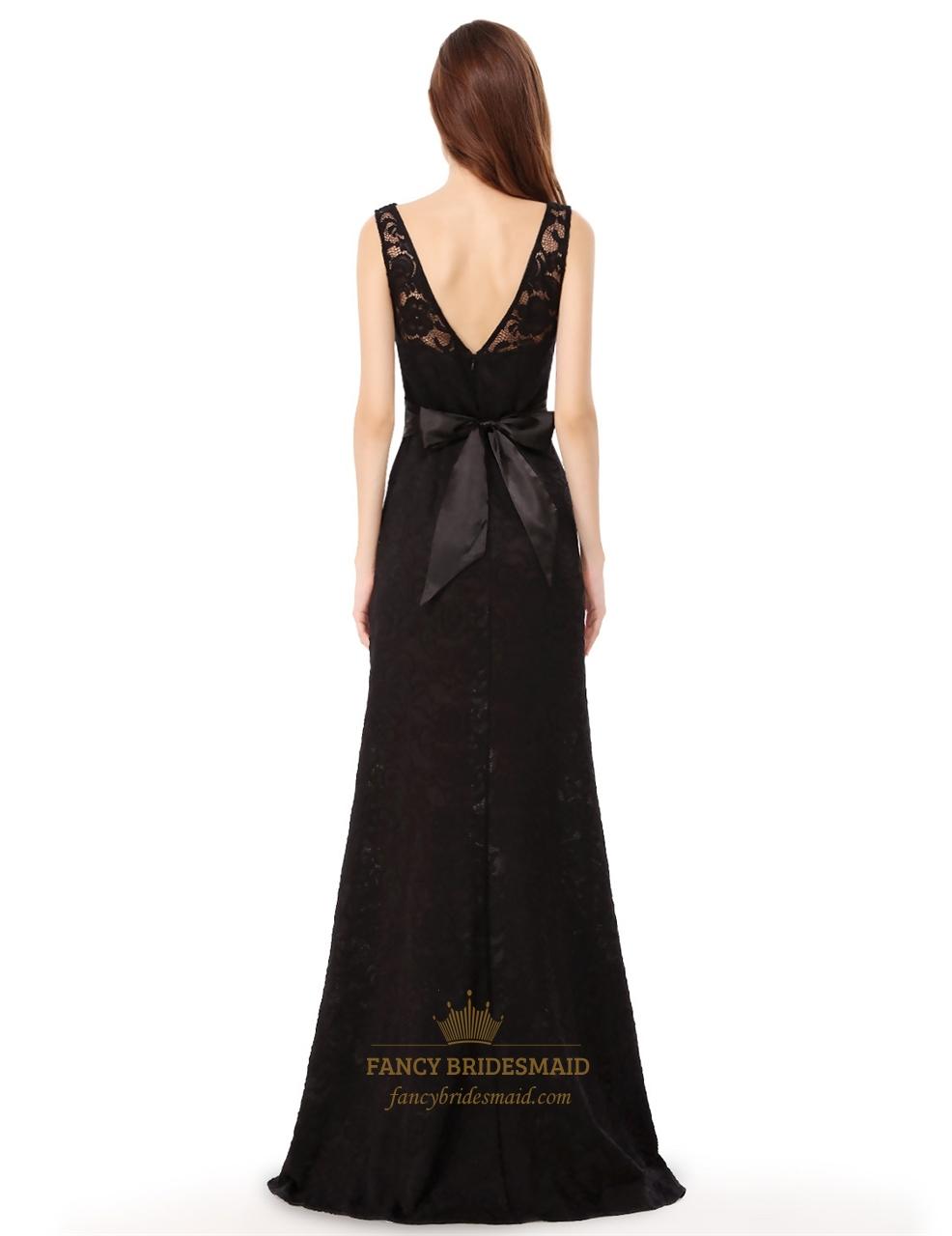 v back sleeveless lace evening dress side spilt with