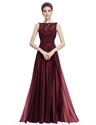 Lace Bodice Chiffon Skirt A Line Ruched Long Prom Dress