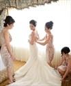 Cute Champagne Knee Length Sleeveless V Neck Sheath Bridesmaid Dress