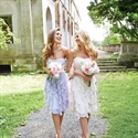 Lovely Knee Length Strapless Chiffon Bridesmaid Dress With Open Back