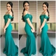 Elegant Off The Shoulder Mermaid Prom Dress With Ruched Sequin Bodice