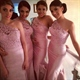 Pink One Shoulder Sleeveless Lace Bodice Mermaid Long Bridesmaid Dress