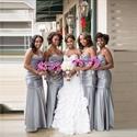 Gray Strapless Sweetheart Mermaid Long Bridesmaid Dress With Ruching