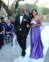 Purple Strapless Sweetheart Empire Waist Floor Length Bridesmaid Dress