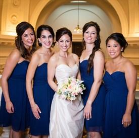 Royal Blue Strapless Sweetheart Knee Length Chiffon Bridesmaid Dress