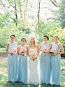 Baby Blue Sleeveless Lace Embellished Ruched Chiffon Bridesmaid Dress
