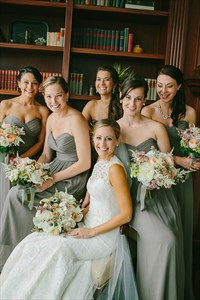Floor-Length Grey Strapless Sweetheart Ruched Chiffon Bridesmaid Dress