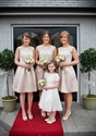 Champagne Short Sleeveless A Line Bridesmaid Dress With Lace Bodice