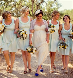 Lovely Mint Green Chiffon Knee Length Bridesmaid Dress With Ruching