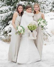 Elegant Sleeveless Floor Length A-Line Bridesmaid Dress With Ruching