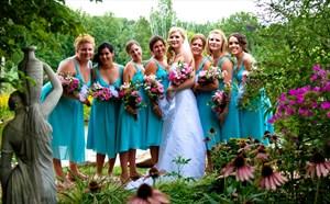 Short V Neck Sleeveless Chiffon Bridesmaid Dress With Beaded Straps