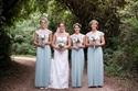 Lovely Floor Length Cap Sleeve Lace Bodice Chiffon Bridesmaid Dress
