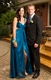 Teal Sleeveless Empire Waist Floor-Length Prom Dress With Front Split