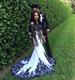 Elegant Long Sleeve Lace Applique Floor Length Mermaid Wedding Dress