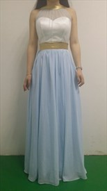 Sheer Embellished Sweetheart Neckline Sleeveless Backless Formal Dress