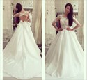 Illusion A-Line Lace Bodice Keyhole Back Wedding Dress With Sleeves