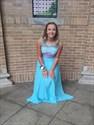 Aqua Blue Two Piece Lace Applique Sleeveless Long Prom Dress