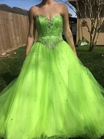 Mint Green Strapless Sweetheart Beaded Long Ball Gown Prom Dress
