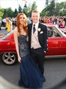 Navy Blue Strapless Sweetheart Embellished Top Tulle Mermaid Dress