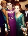 Grape Lace Bodice Chiffon Mermaid Full Length Bridesmaid Dress