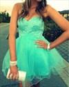 Lavender Strapless Sweetheart Beaded Short Bridesmaid Dress