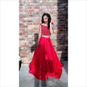 Red Two Piece Beaded Top Cap Sleeve Long Ball Gown Formal Dress