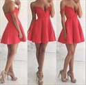 Red Off The Shoulder Lace Top Backless Short Homecoming Dresses