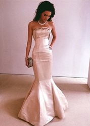 Blush Pink Strapless Sweetheart Mermaid Floor Length Formal Gown