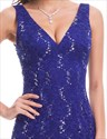 Sleeveless Sequin Embellished Lace Mermaid Prom Dress With Open Back