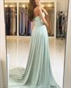 Elegant A-Line Strapless Sweetheart Lace Top Chiffon Bottom Prom Dress