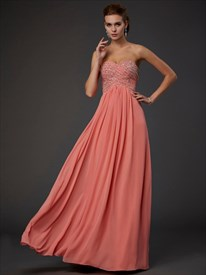 Strapless A-Line Jeweled Bodice Low Back Floor Length Long Prom Dress