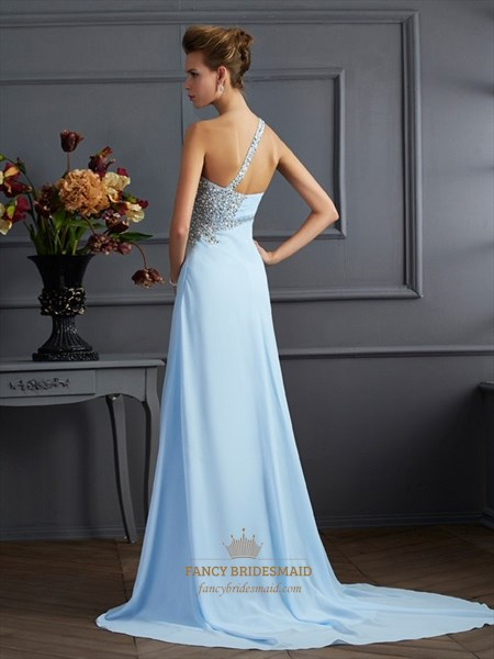 Sleeveless Side Cut Out Floor Length Prom Dresses With Split