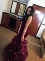 Burgundy Sweetheart Floor Length Mermaid Prom Dress With Ruffles
