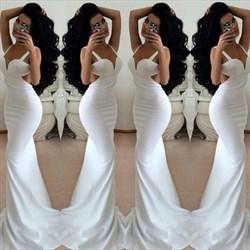 Sweetheart Sheath Floor Length Chiffon Prom Dress With Side Cutouts