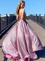 Lilac Sequin v-neck spaghetti strap Long backless Prom Dress