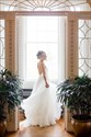 Elegant Ivory V-Neck Spaghetti Straps Backless Beach Wedding Dresses