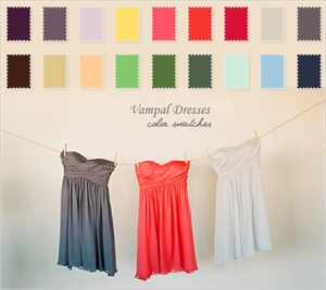 Dress Color Samples Swatch