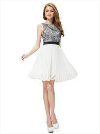 Black And White Lace Top Dress,Black Taffeta Lace Top Prom Dress
